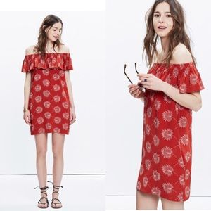 NEW* Madewell Off The Shoulder Dress Palmflower🌺
